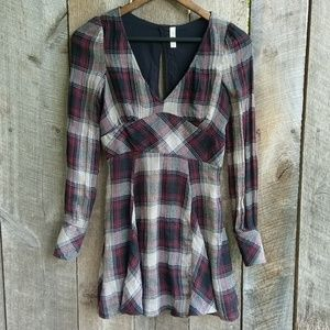 Free People from UO Flowy Plaid Dress 0